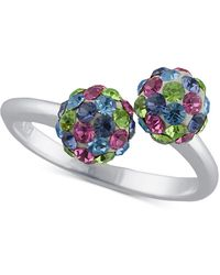 Giani Bernini Crystal Cluster Bypass Statement Ring In Sterling Silver, Created For Macy's - Metallic