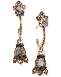 Marchesa - Gold-tone Multi-stone Drop Earrings - Lyst