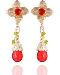 Nanette Lepore Winter Garden Flower Drop Earrings - Metallic