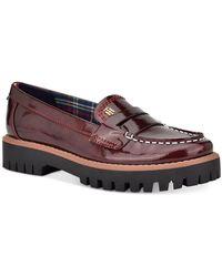 Tommy Hilfiger Rimini Lug Loafer Flats - Red
