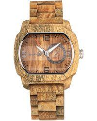 Earth Wood - Scaly Wood Bracelet Watch W/date Olive 46mm - Lyst
