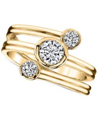 Sirena - Diamond Three-row Ring (1/2 Ct. T.w.) In 14k Gold - Lyst