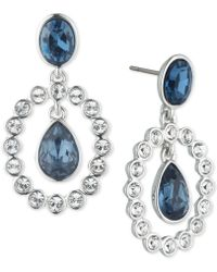 Givenchy - Silver-tone Crystal & Stone Orbital Drop Earrings - Lyst