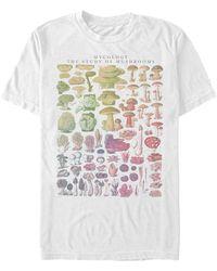 Fifth Sun Mushroom Studies Short Sleeve Crew T-shirt - White