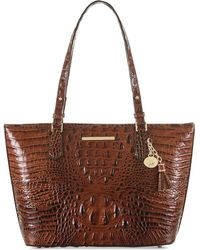 Brahmin - Medium Asher Melbourne Embossed Leather Tote - Lyst