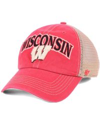 47 Brand - Wisconsin Badgers Tuscaloosa Mesh Clean Up Snapback Cap - Lyst edd3e6bff