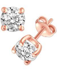 Macy's - Diamond Stud Earrings (3/4 Ct. T.w.) In 14k White, Yellow Or Rose Gold - Lyst