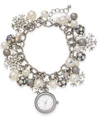 Charter Club Snowflake Silver-tone Charm Bracelet 26mm, Created For Macy's - Metallic
