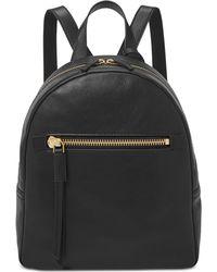 Fossil Megan Leather Backpack - Black