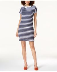 Maison Jules - Printed Round-collar Dress - Lyst