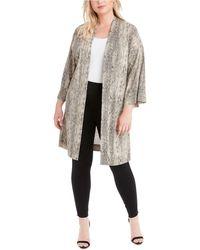 Jessica Simpson Trendy Plus Size Bea Printed Kimono - Multicolour