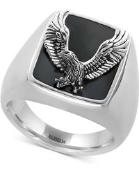 Effy Collection - Men's Onyx (16-3/4 X 13-1/2mm) Eagle Ring In Sterling Silver - Lyst