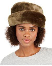 Nine West Faux Fur Cuff Cloche - Brown