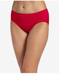 Jockey Seamfree Matte And Shine Hi-cut Underwear 1306, Extended Sizes - Red