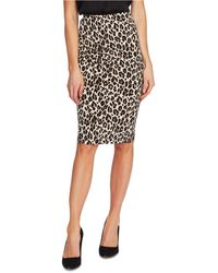 Vince Camuto Pull-on Leopard-print Skirt - Multicolor