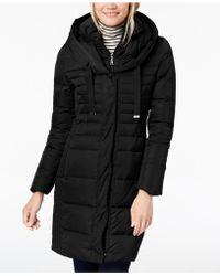 T Tahari - Hooded Puffer Coat - Lyst