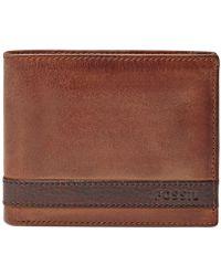 Fossil   Quinn Bifold With Flip Id Wallet   Lyst