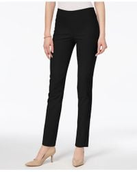 Charter Club Chelsea Petite Tummy-control Ankle Pants, Created For Macy's - Black