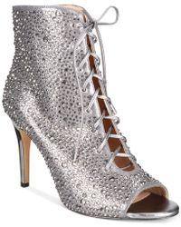 INC International Concepts - Women's Rikelie Peep-toe Booties - Lyst