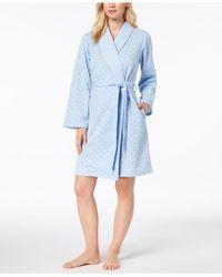 Charter Club - Short Sweatshirt Robe, Created For Macy's - Lyst