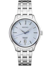 Seiko Automatic Presage Stainless Steel Bracelet Watch 42mm - Blue