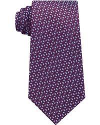 Michael Kors Men's Pindot Ground Diamond Silk Tie - Purple