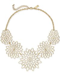 """INC International Concepts - I.n.c. Gold-tone Flower Statement Necklace, 19"""" + 3"""" Extender, Created For Macy's - Lyst"""