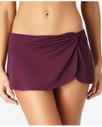 Anne Cole - Solid Sarong Swim Skirt - Lyst