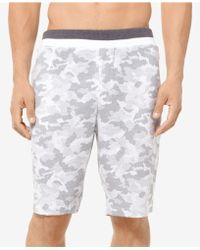 Michael Kors - Camo-print Waffled Pajama Shorts - Lyst