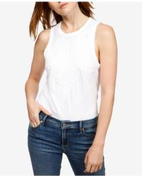Lucky Brand - Cotton Ruched Tank Top - Lyst