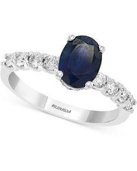 Effy - Effy® Sapphire (1-3/8 Ct. T.w.) & Diamond (3/8 Ct. T.w.) In 14k White Gold - Lyst