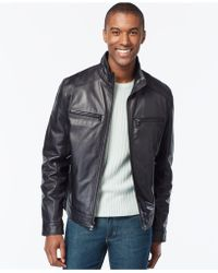 Michael Kors - Michael Hipster Leather Jacket - Lyst