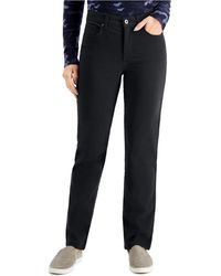 Style & Co. Petite High-rise Natural Straight-leg Jeans, Created For Macy's - Black
