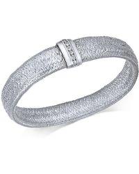 Macy's - Diamond Woven Mesh Bracelet (1/8 Ct. T.w.) In Sterling Silver - Lyst