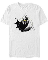 Fifth Sun Geometric Batman Power Pose Short Sleeve T-shirt - White