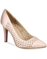 Rialto | Moreen Perforated Pointed-toe Court Shoes | Lyst