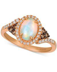 Le Vian - ® Neopolitan Opal (5/8 Ct. T.w.), Chocolate Diamond (1/10 Ct. T.w.) And Vanilla Diamond (1/6 Ct. T.w.) Ring In 14k Rose Gold - Lyst