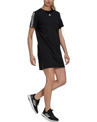 adidas Essentials Cotton 3-stripes Dress - Black