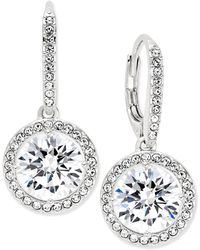 Danori - Silver-tone Crystal Drop Earrings - Lyst