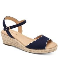 Charter Club Lucia Platform Wedge Sandals, Created For Macy's - Blue