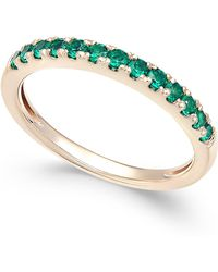 Macy's - Emerald Band (1/2 Ct. T.w.) In 14k Gold - Lyst