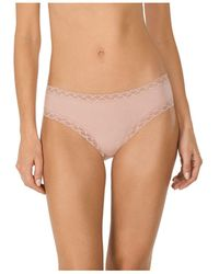 Natori - Bliss Lace-trim Cotton Brief Underwear 156058 - Lyst