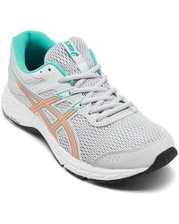 Asics Gel-contend 6 Wide Width Running Sneakers From Finish Line - Grey