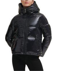 Calvin Klein Hooded Puffer Coat - Black