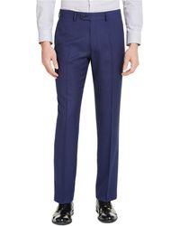 Perry Ellis Portfolio Slim-fit Stretch Suit Pants - Blue