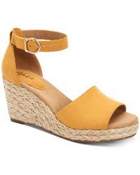 Style & Co. Seleeney Wedge Sandals, Created For Macy's - Yellow