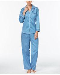 Miss Elaine | Foulard-print Satin Pajama Set | Lyst