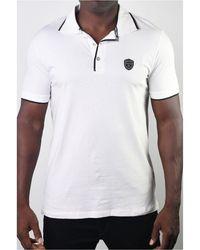 Members Only Basic Short Sleeve Logo Botton Polo - White