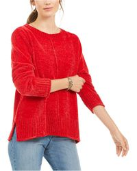 Style & Co. Chenille Sweater, Created For Macy's - Red