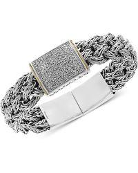 Effy Collection - Diamond Pavé Woven Bracelet (1/2 Ct. T.w.) In Sterling Silver & 18k Gold - Lyst